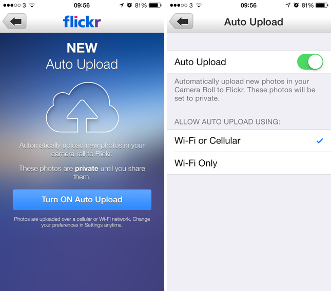 flickr1 Flickr for iOS updated with automatic uploads from the Camera Roll and Auto Straighten tool