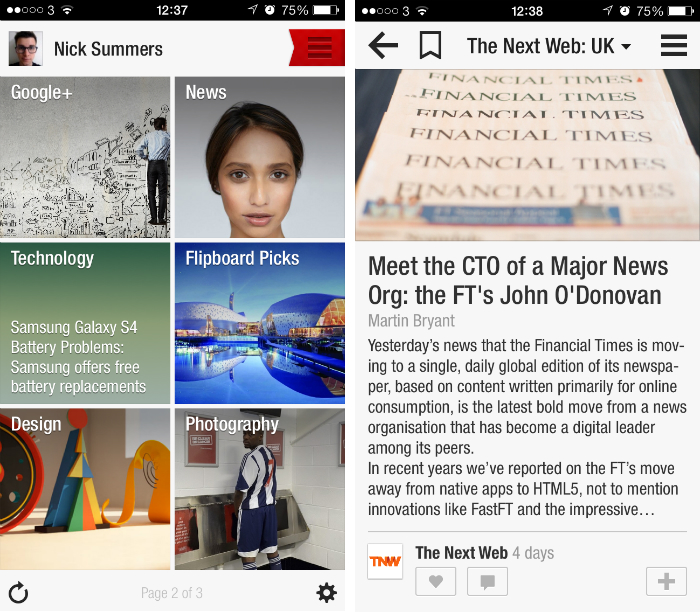 flipboard1 10 must have iPhone apps for keeping on top of the news