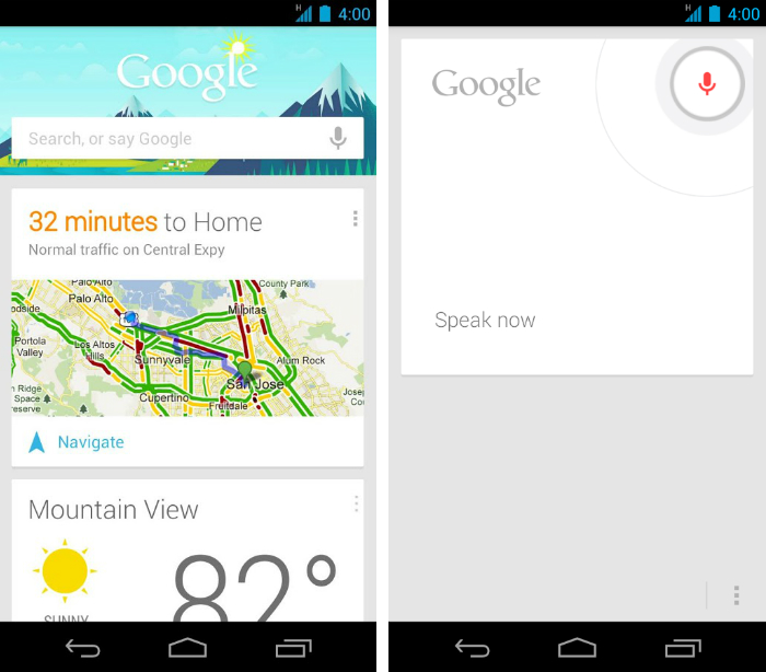 googlenow1 30 of the most beautiful and well designed Android apps