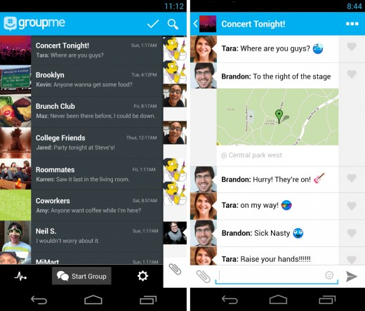 groupme 520x443 22 of the best mobile messaging apps to replace SMS on your smartphone