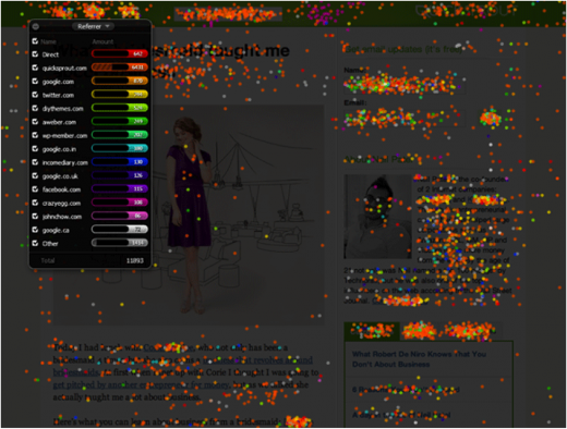 heatmap design 520x394 Dont lose users for eternity in the first 5 seconds: How to survive the blink test