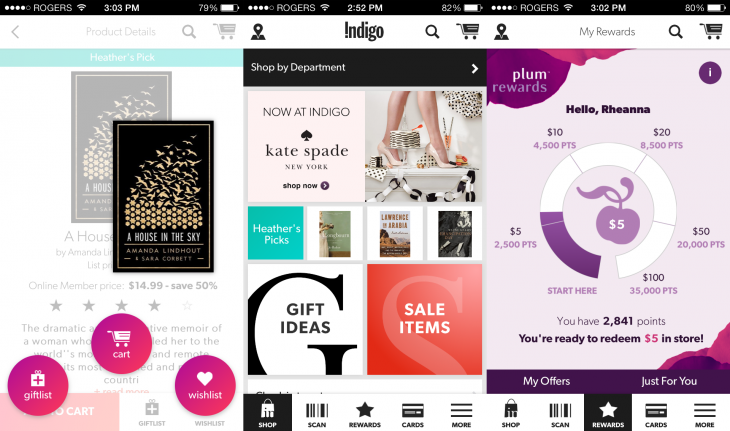 indigo app 730x431 Canadas Indigo Books and Music launches Android and iOS app for mobile and in store purchasing