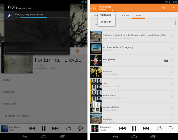 keepondevice2 An in depth guide to Google Play Music All Access