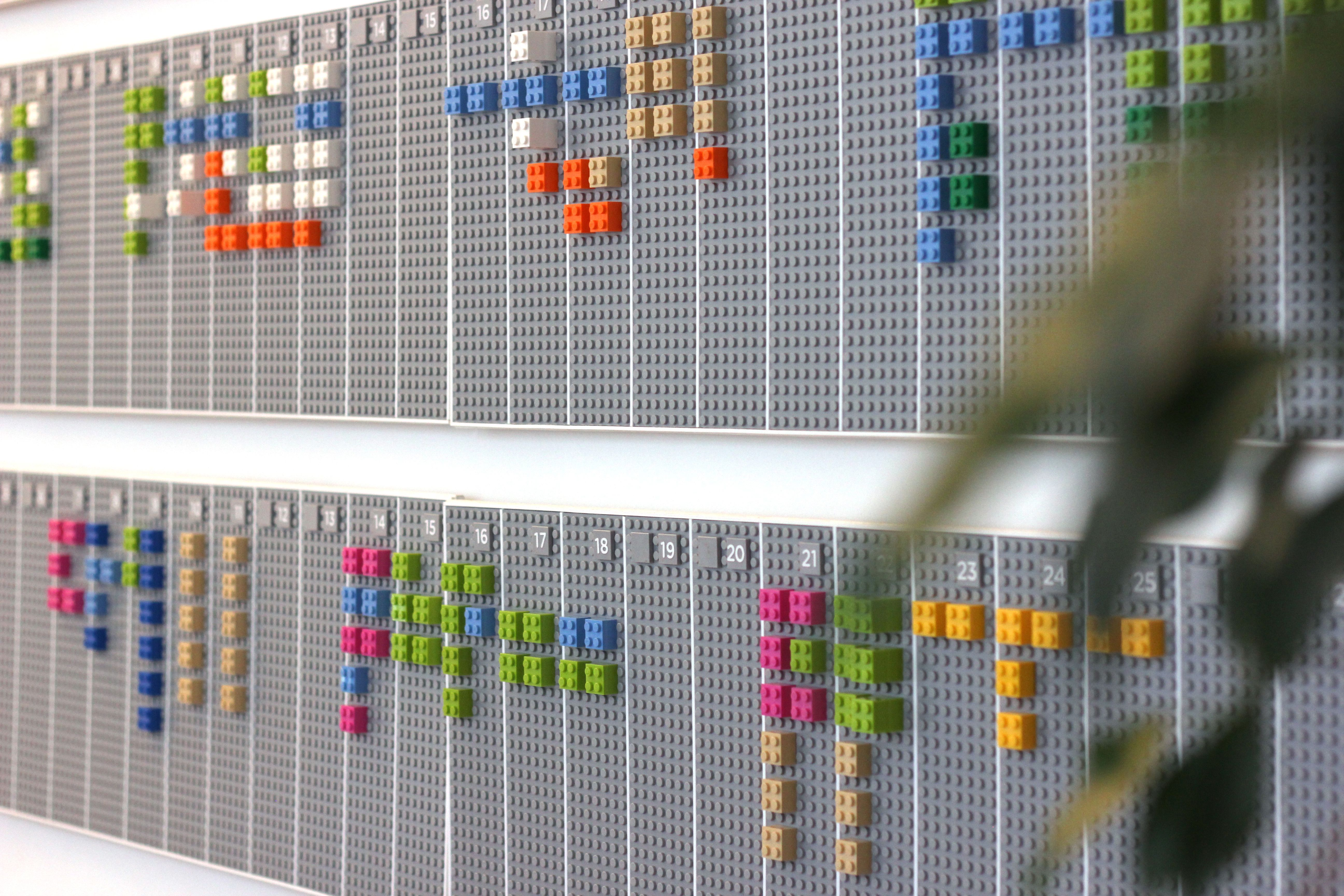 lego4 This awesome LEGO wall planner syncs digitally with your Google Calendar account
