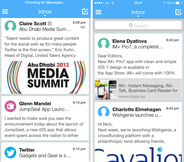 molto1 Visualize your email inbox as a social network feed with Molto for iOS and Android tablets