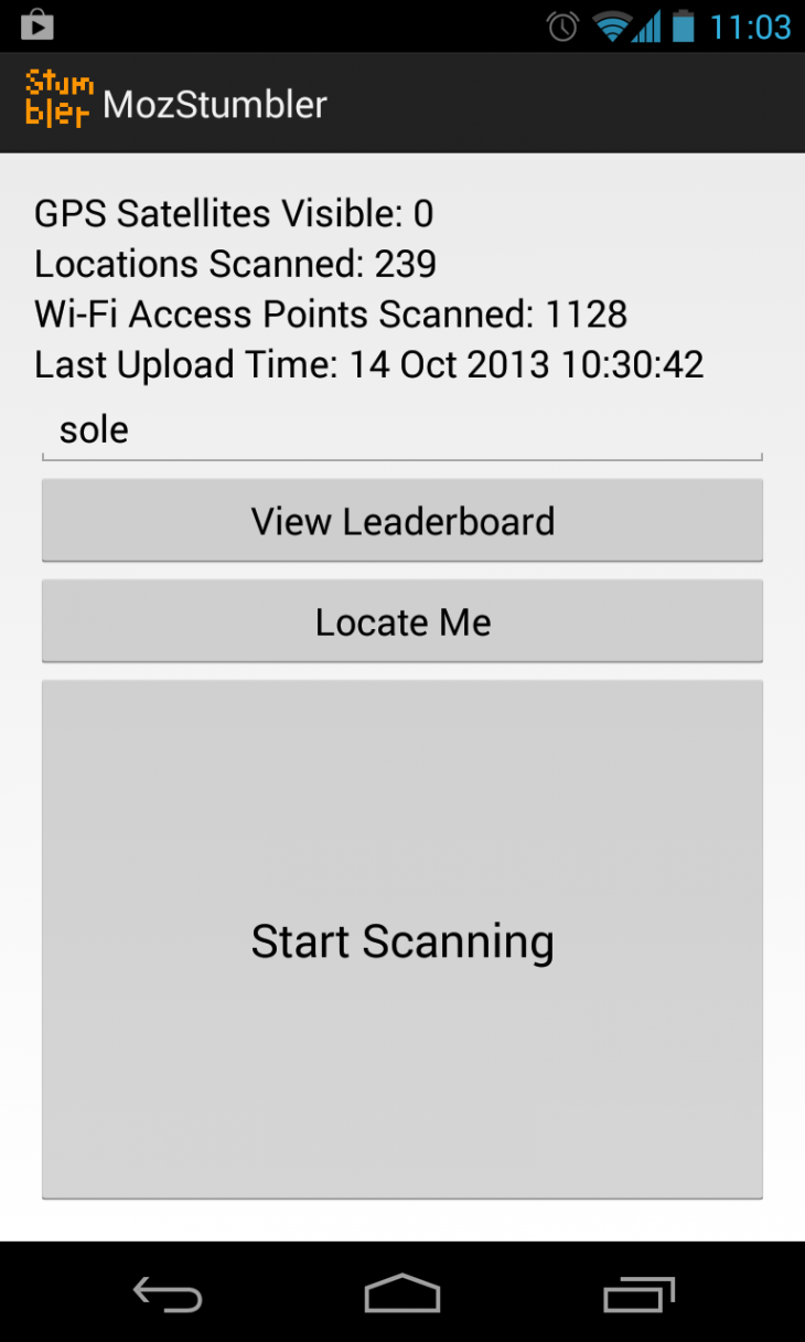 mozstumbler 730x1216 Mozillas Location Service pilot project provides geolocation lookups based on public cell tower and WiFi data