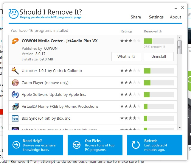 shouldiremoveit img Should I Remove It helps you decide which programs to uninstall from your Windows PC