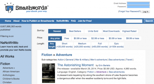 smashwords 520x286 20 of the best ways to buy ebooks, digital comics and etextbooks