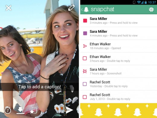 snapchat 520x391 22 of the best mobile messaging apps to replace SMS on your smartphone