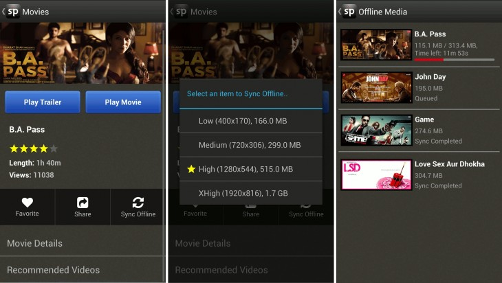 spuul 730x412 Indian movie streaming service Spuul brings offline viewing to its Android app