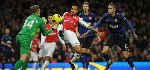 Arsenal's English striker Theo Walcott (