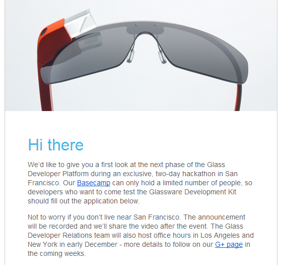 2013 11 06 1847 001 Google is wooing developers for Google Glass at a hackathon this month