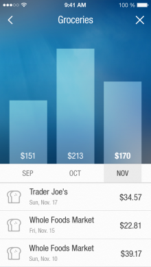 3 BillGuard Spend Analytics 220x390 BillGuard for iPhone gets smarter with new savings alerts and spending analytics