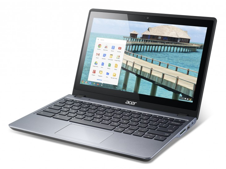 Acer C720P touch Lft 730x548 Acer announces touchscreen Chromebook C720P with 32GB SSD and 2GB RAM, coming in early December for $299.99