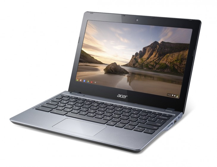 Acer Chromebook previewed at IDF forward angle 730x562 Acer launches a new budget sensitive C720 Chromebook model with 16GB SSD and 2GB RAM for $199.99