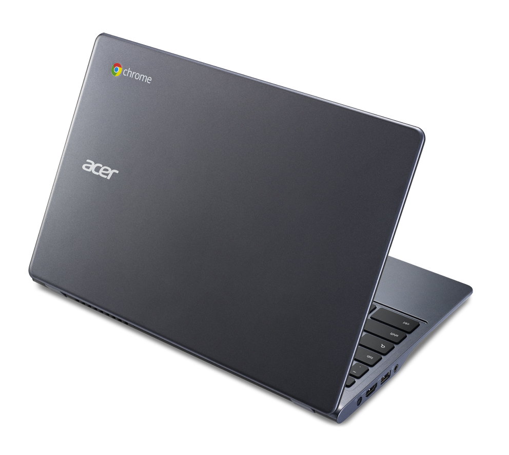 Acer Chromebook previewed at IDF rear view angled