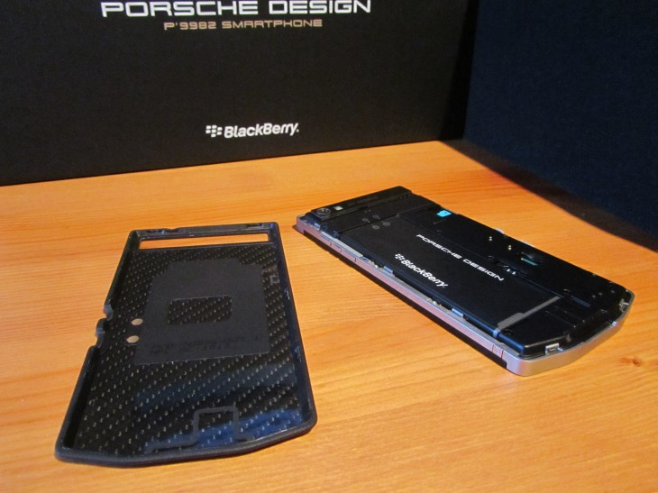BlackBerry P9982 rear 730x547 Hands on with BlackBerrys $2,350 Porsche Design P9982 smartphone: Wheres the added value?