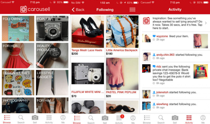 Carousell 1 730x431 Carousell gets cozy with Rakuten to bring its mobile marketplace to Southeast Asia