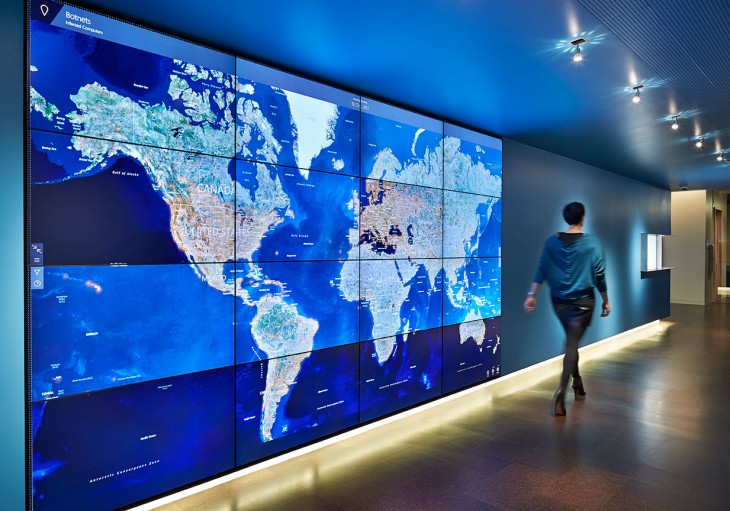 CyberThreatIntellige Web 730x511 Microsoft opens a futuristic Cybercrime Center in Redmond to tackle botnets, malware and more