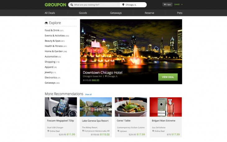 GrouponHomePage 730x458 Groupon revamps its website and updates its mobile apps with new search and browse features