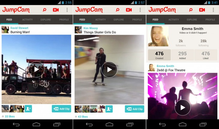 JumpCam Feed 730x431 JumpCam brings its video collaboration service app to Android