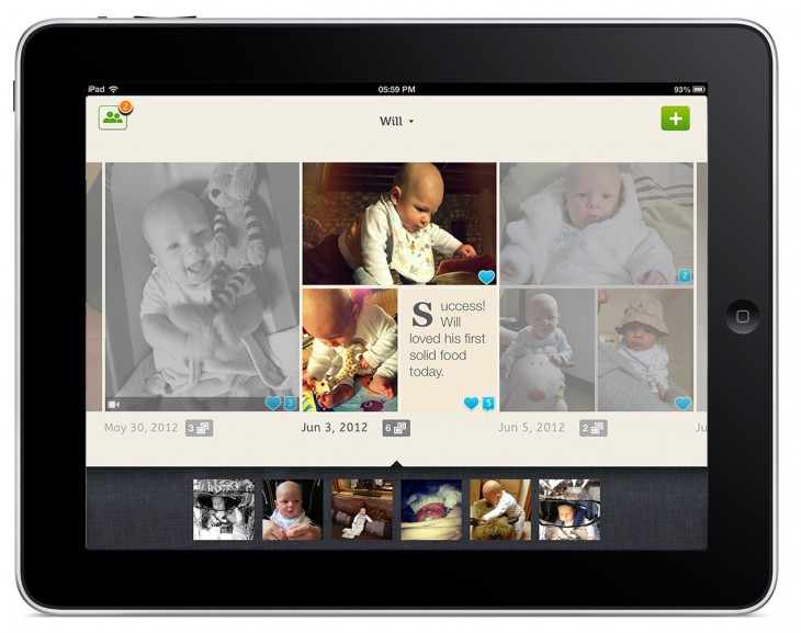 Lifecake iPad 730x577 Lifecake launches multi platform shared photo albums for your family