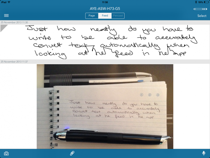 Livescribe neatly 730x547 Livescribe 3 review: A truly smart pen, but a demanding one too