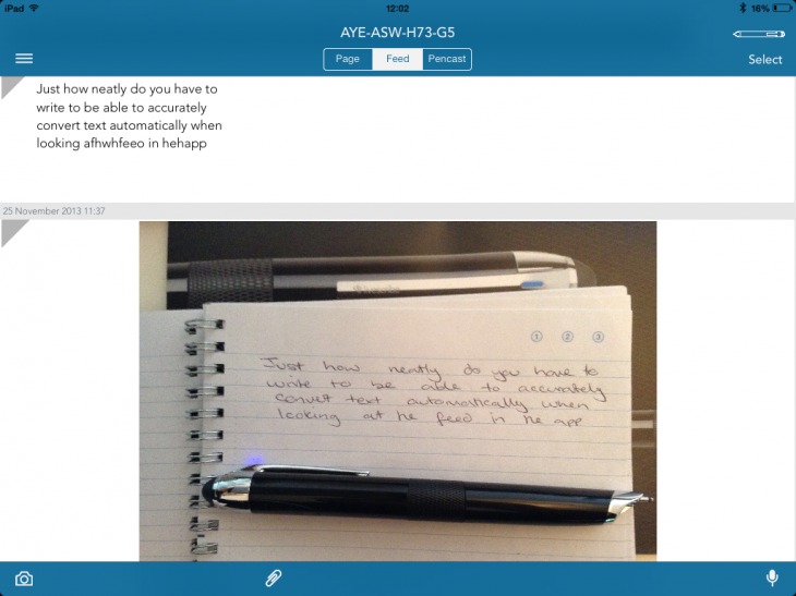 Livescribe neatly converted 730x547 Livescribe 3 review: A truly smart pen, but a demanding one too