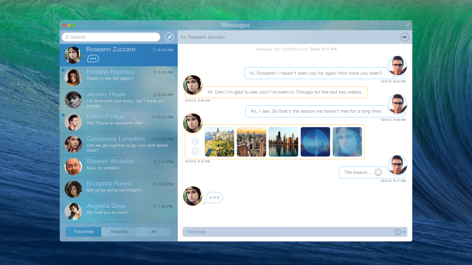 Check Out This Design Concept For Messages On OS X