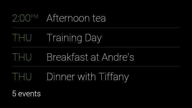MyAgenda Google Glass update adds new commands to bring up your agenda and get directions to home and work