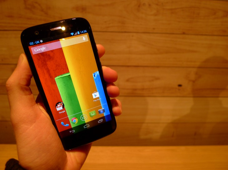 P1040567 730x547 Moto G hands on: Motorola ignores low end smartphone expectations with this stylish sub $200 handset