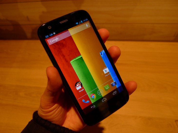 P1040586 730x547 Moto G hands on: Motorola ignores low end smartphone expectations with this stylish sub $200 handset