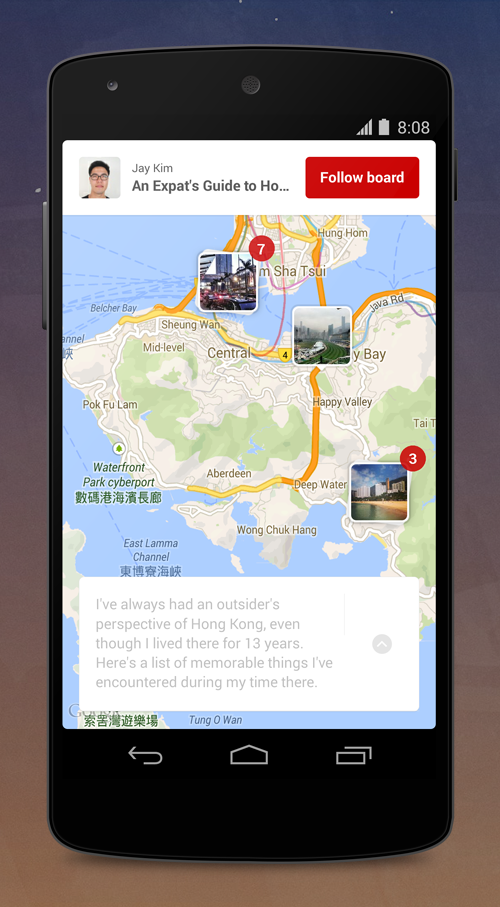 Place Pins Android Pinterest moves into travel after launching new tools to help users plan trips