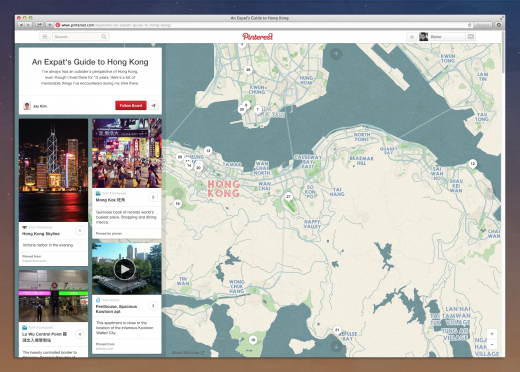 Place Pins Web 520x372 Pinterest moves into travel after launching new tools to help users plan trips