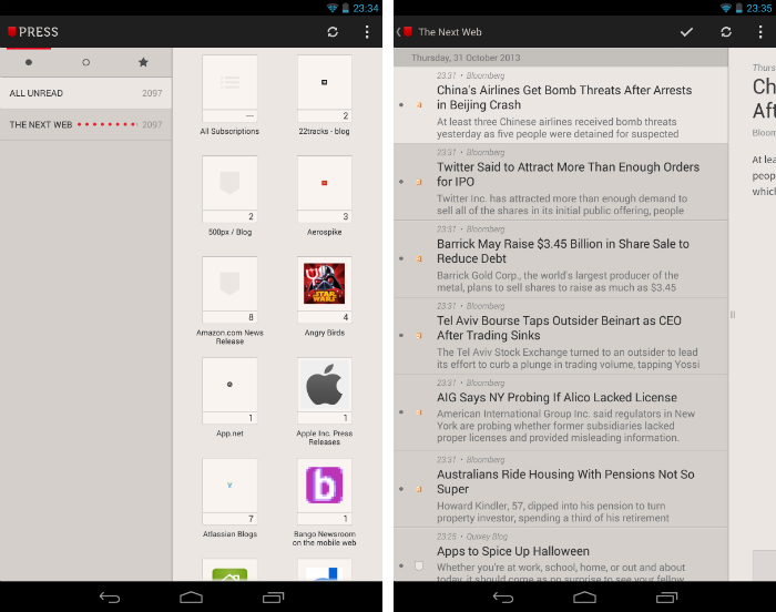 Press1 30 of the most beautiful and well designed Android apps
