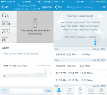 RunKeeper update 220x195 RunKeeper update taps iPhone 5s M7 co processor to track cadence and automatically log your walks