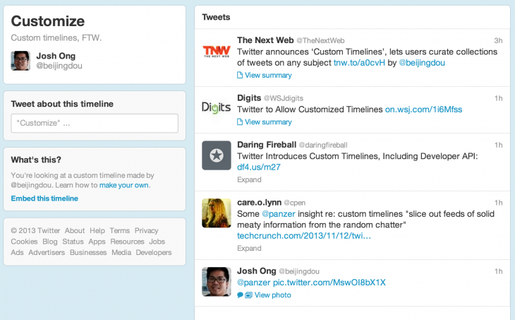 Screen Shot 2013 11 12 at 1.26.27 PM 730x453 Here's how to create Twitters new custom timelines in Tweetdeck