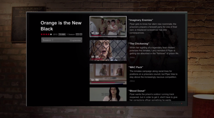 Screen Shot 2013 11 12 at 8.08.50 PM 730x405 Netflix overhauls its TV interface as it seeks a seamless experience for its users across all connected devices