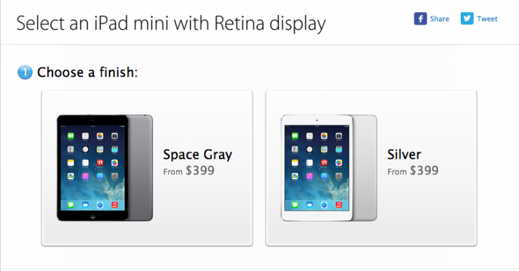 Screen shot 2013 11 12 at PM 04.05.31 730x381 Apples iPad Mini Retina goes on sale online, prices start at $399