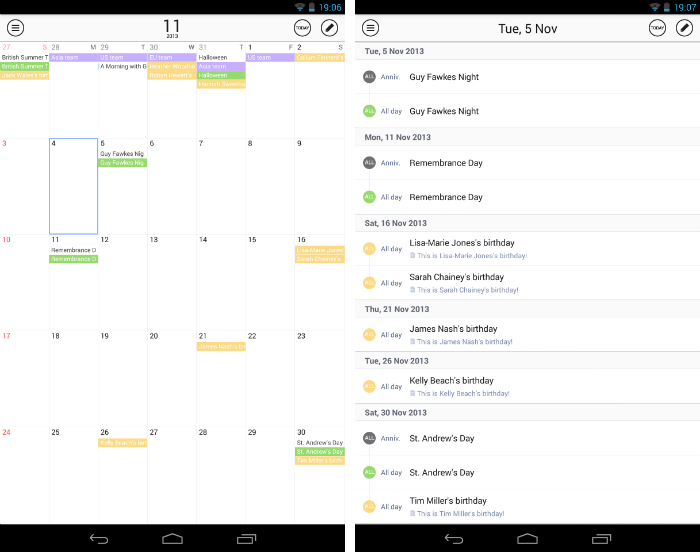 SolCalendar2 30 of the most beautiful and well designed Android apps