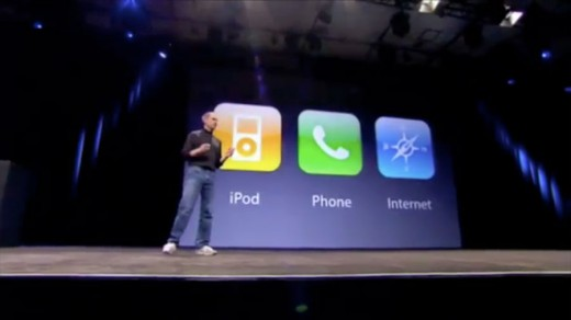 Steve Jobs 2007 iPhone iPod phone internet communicator 520x292 Want to write a better blog? Learn from a comedian