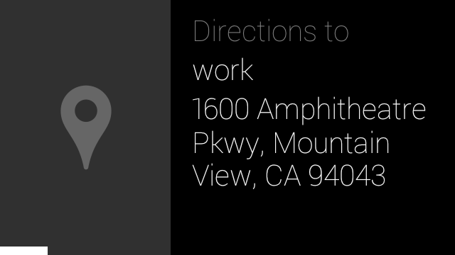 WorkDirections Google Glass update adds new commands to bring up your agenda and get directions to home and work