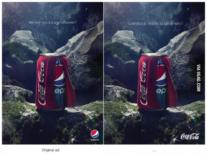 coke ad Pepsi won Halloween with this clever ad