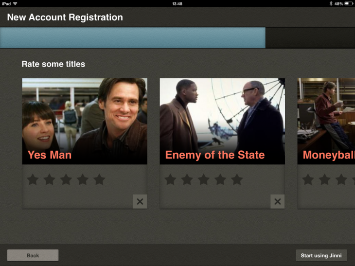 e1 730x547 Jinni for iPad could become the ultimate TV and movie recommendation app