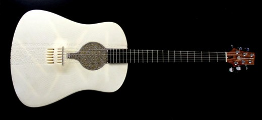 guitar front 520x239 15 of the best 3D printed items from 2013