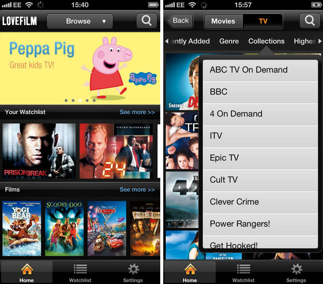 lovefilm Amazons LOVEFiLM Instant is finally available on the iPhone and iPod touch in the UK