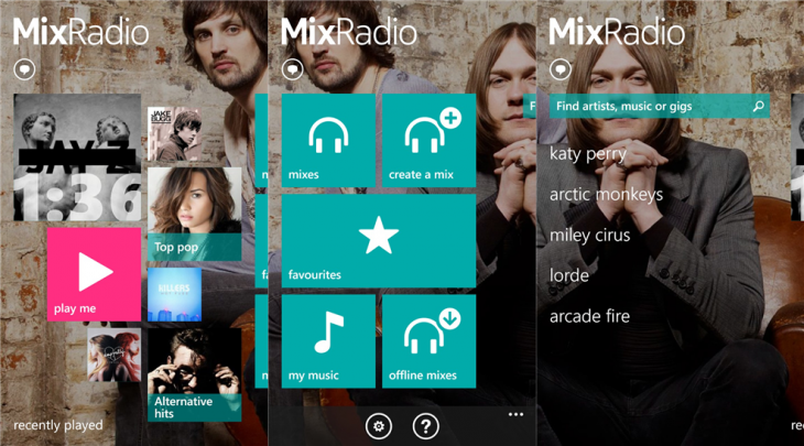 nokia mixradio wp 730x405 Nokia Music rebranded as Nokia MixRadio; Windows Phone app gets personalized mixes, voting, and social sharing