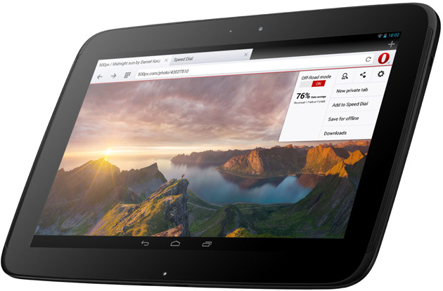opera 18 for android off road Operas Android browser app gains dedicated support for tablets