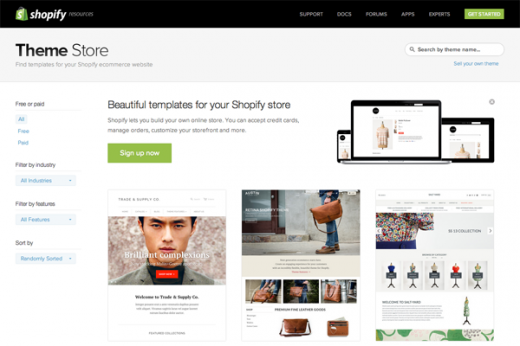shopify theme store 520x346 How much does it cost to build the world's hottest startups?