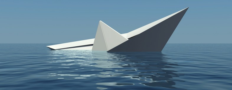 sinking paper boat